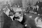 The signing of the declaration of independence of Morocco, France,2 March 1956