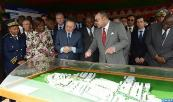HM King Mohammed VI visits building site of 'Résidences Akwaba' real estate project, carried out by Moroccan group Alliances in the city of Anyama, district of Abidjan