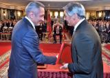 SM el Rey Mohammed VI preside, en el Palacio Real en Tánger, la ceremonia de firma de un convenio para la creación de un ecosistema industrial de Boeing en Marruecos