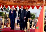 Official ceremonial welcome in Casablanca for HM King Abdullah II and Queen Rania of Jordan