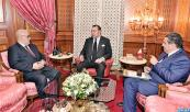 HM King Mohammed VI receives, at the Royal Palace in Casablanca, Government Head, Abdelilah Benkirane, and Agriculture and Fisheries Minister, Aziz Akhannouch
