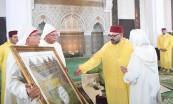 SM el Rey Mohammed VI, Amir Al Muminin (Comendador de los Creyentes), preside en la mezquita Badr en Rabat una velada religiosa en conmemoración de Aid Al-Mawlid Al-Nabawi Acharif