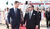 SM el Rey Felipe VI de España y la Reina Letizia llegan a Marruecos, para una visita oficial al Reino, atendiendo a la invitación de Su Majestad el Rey Mohammed VI