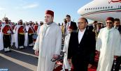 HM King Mohammed VI arrives in Tunis