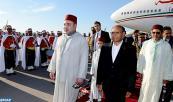 SM el Rey Mohammed VI llega a Túnez