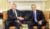 President Barack Obama meets with His Majesty King Mohammed VI at White House