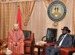 SM el Rey Mohammed VI se entrevista a solas con el presidente de la República de Sudán del Sur, Salva Kiir Mayardit
