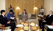 صاحبة السمو الملكي الأميرة للا حسناء تتباحث في ناغويا مع وزير التربية الياباني