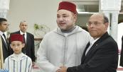 HM King Mohammed VI meets, at the presidential palace of Carthage, with Tunisian president, Mohamed Moncef Marzouki