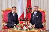SM el Rey Mohammed VI se entrevista con el Presidente francés Emmanuel Macron