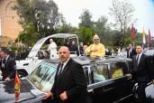 Ceremonia oficial de bienvenida a Su Santidad el Papa Francisco en Rabat