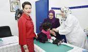 صاحبة السمو الملكي الأميرة للا مريم تعطي بالرباط الانطلاقة الرسمية للعمل بالجدول الوطني الجديد للتلقيح