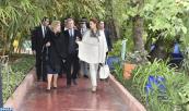 صاحبة السمو الملكي الأميرة للا سلمى والسيدة دومينيك وتارا تقومان بزيارة لحديقة ماجوريل التاريخية بمراكش