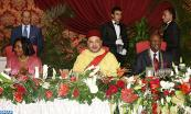 Guinean president, Pr. Alpha Condé, offers, at the Mohammed V Palace in Conakry, an official dinner in honor of HM King Mohammed VI