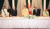 El presidente tunecino ofrece una cena oficial en honor de Su Majestad el Rey