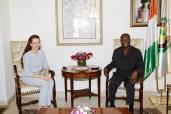 الرئيس الايفواري يستقبل بأبيدجان صاحبة السمو الملكي الأميرة للا سلمى