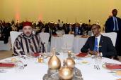 El presidente de la República de Ruanda, Paul Kagamé, ofrece un almuerzo oficial en honor de SM el Rey Mohammed VI en Kigali