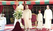 SM el Rey Mohammed VI preside, en el Palacio Real en Rabat, una recepción con ocasión del 15 aniversario de la Fiesta del Trono