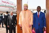 SM el Rey llega a Bisáu para una visita oficial