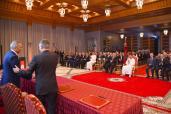 SM el Rey preside la ceremonia de firma de un acuerdo sobre la implantación de un complejo industrial del grupo PSA Peugeot Citroën en Marruecos