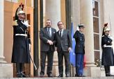 HM the King Received at Elysee Palace by French President