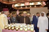 SM el Rey visita el pabellón marroquí en el Salón Internacional de Alimentación en Abu Dabi