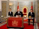 SM el Rey Mohammed VI dirige un discurso a la Nación con motivo del decimoctavo aniversario de la Fiesta del Trono