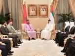 Reunión en Abu Dabi entre SM el Rey y SA Cheikh Mohammed Ben Zayed Al-Nahyane, Príncipe Heredero de Abu Dabi, Comandante Supremo Adjunto de las Fuerzas Armadas de los Emiratos Árabes Unidos