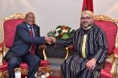 V Cumbre UA-UE: SM el Rey Mohammed VI recibe en Abiyán al Presidente de la República de Sudáfrica, Jacob Zuma