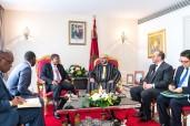 V Cumbre UA-UE: SM el Rey Mohammed VI recibe en Abiyán al Presidente de la República de Angola, João Lourenço