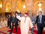 SM el Rey Mohammed VI, Amir Al Muminin, cumple la oración del viernes en la mezquita Hassan II en Casablanca