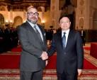 """SM el Rey Mohammed VI recibe en el Palacio Real de Casablanca al presidente del grupo chino """"BYD Auto Industry"""", Wang Chuanfu"""