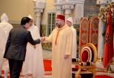SM el Rey Mohammed VI recibe en el Palacio Real de Casablanca a varios embajadores extranjeros, que vinieron para presentar al Soberano sus cartas credenciales como embajadores plenipotenciarios y extraordinarios de sus países en el Reino