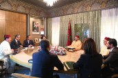 HM King Mohammed VI chairs at the royal palace in Casablanca a working session devoted to the examination of the progress of the implementation by MASEN of the plans of development of renewable energy of the Kingdom