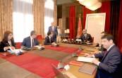 SM el Rey Mohammed VI preside en el Palacio Real de Rabat una sesión trabajo para examinar el progreso de los proyectos de energías renovables supervisados por Masen