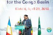 HM King Mohammed VI addresses a speech to 1st Summit of Heads of State and Government of Climate Commission of Congo Basin