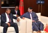 SM el Rey Mohammed VI recibe en Brazzaville al presidente de la República de Angola, João Lourenço