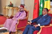 Entrevista a solas entre SM el Rey Mohammed VI y el presidente de la República del Congo, Denis Sassou N'Guesso