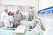"""SM el Rey Mohammed VI inaugura el hospital provincial """"Príncipe Moulay Abdallah"""" en el distrito Hssain (prefectura de Salé), de una capacidad de acogida de 250 camas"""