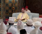 HM King Mohammed VI, Commander of the Faithful,  chairs at the Casablanca royal palace the third religious lecture of the holy month of Ramadan