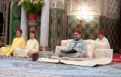 SM el Rey Mohammed VI, Amir Al Muminin, preside en el palacio real de Casablanca la cuarta charla religiosa del mes sagrado del Ramadán