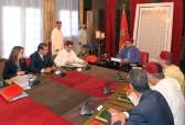 SM el Rey Mohammed VI preside en el palacio real en Rabat una reunión dedicada a la problemática del agua