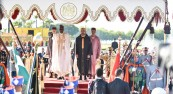Ceremonia de bienvenida oficial en Rabat del presidente de la República de Nigeria, Su Excelencia Muhammadu Buhari