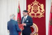 SM el Rey Mohammed VI recibe en Alhucemas a Abdellatif Jouahri, Wali de Bank Al-Maghrib (gobernador del Banco Central)