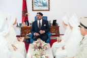 HM King Mohammed VI, Commander of the Faithful, receives in Al Hoceima the members of the official delegation heading to Islam Holy Sites to perform pilgrimage