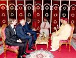 SM el Rey Mohammed VI recibe en el Palacio Marshane en Tánger a José Luis Rodríguez Zapatero, expresidente del Gobierno español, y Miguel Ángel Moratinos, exministro español de Asuntos Exteriores y Cooperación