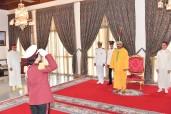 Fiesta del Trono: SM el Rey Mohammed VI recibe, en el Círculo de Oficiales de la Guardia Real en Tetuán, los deseos de la familia de las Fuerzas Armadas Reales