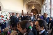 SM el Rey Mohammed VI preside en el Palacio Real en Rabat la ceremonia de presentación del balance de etapa y del programa ejecutivo en el ámbito del apoyo a la escolaridad y la aplicación de la reforma de la educación y la formación