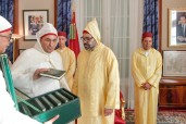 HM King Mohammed VI receives, in Rabat, the speaker of the house of representatives Habib El Malki
