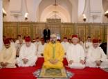 SM el Rey Mohammed VI, Amir Al Muminin, cumple la oración del viernes en la mezquita Koutoubia en Marrakech
